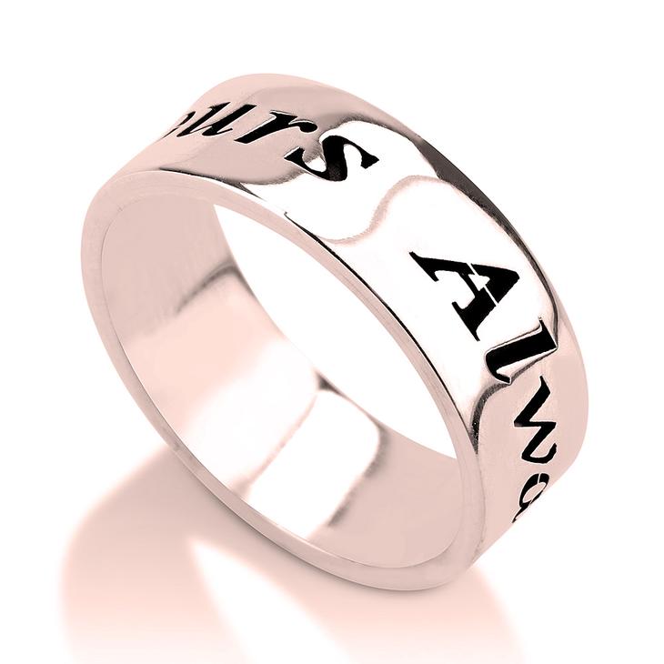 Handwriting Name Ring