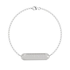 Pulsera de Barra Braille con Doble Cadena