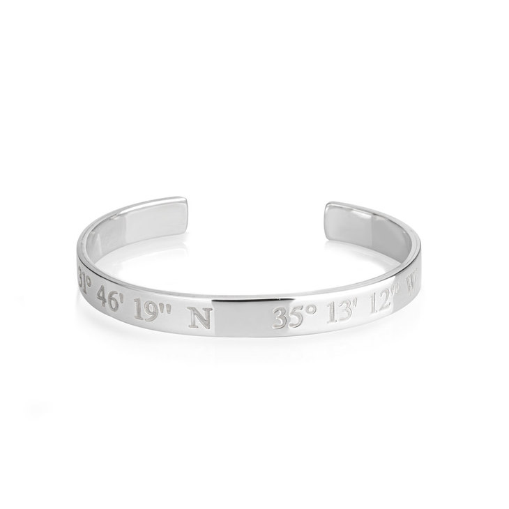 rl latitude product customized idea gift jewelry bracelet cuff longitude personalized coordinate