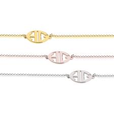 Bracelet Monogramme Lettres Capitales Découpées