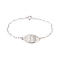 Block Letter Engraved Monogram Bracelet