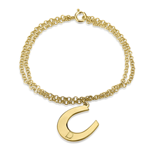 Horseshoe Bracelet with Initial