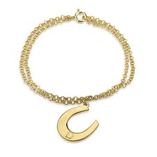 Bracelet Fer à Cheval avec Initiale