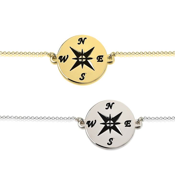 life be lost d gold without direction compass rose bracelet products you rosa i vila buy of