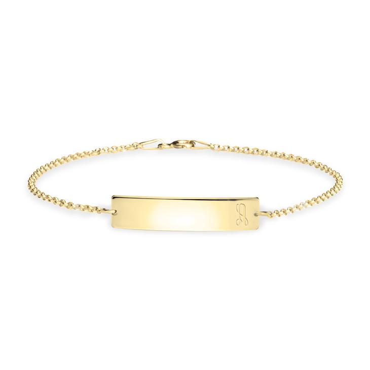 Initial Bar Bracelet