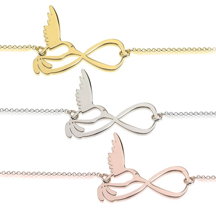 Infinity Bird Bracelet