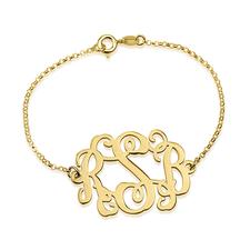 Round Monogram Bracelet