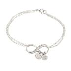 Bracelet Infini avec Charms Cœur Initiale - Thumb