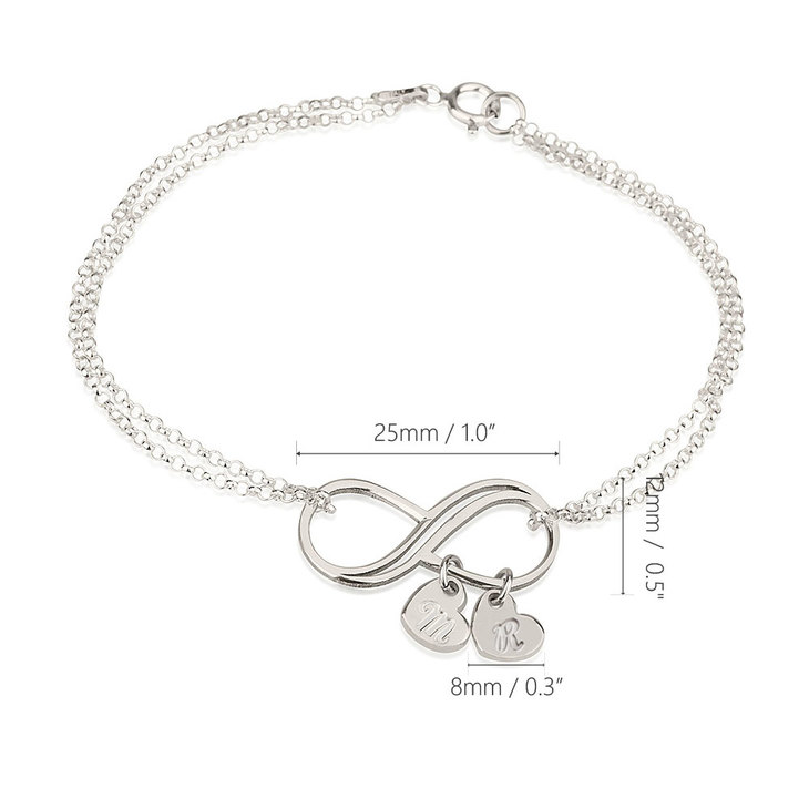 Personalized Infinity Bracelet - Information
