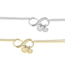 Personalised Infinity Bracelet
