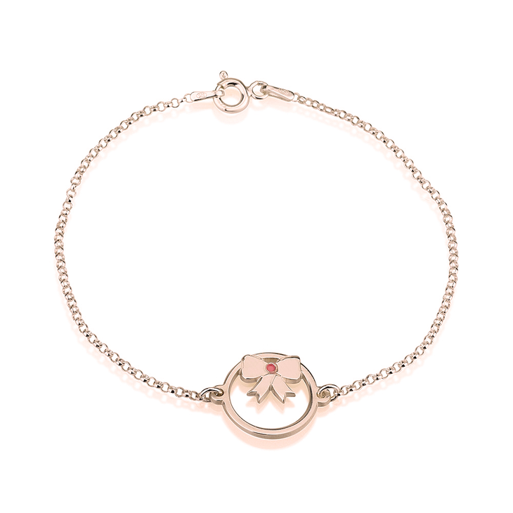 Bow Bracelet with Birthstone