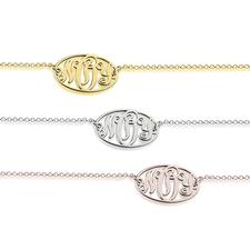 Bracelet Monogramme Oval