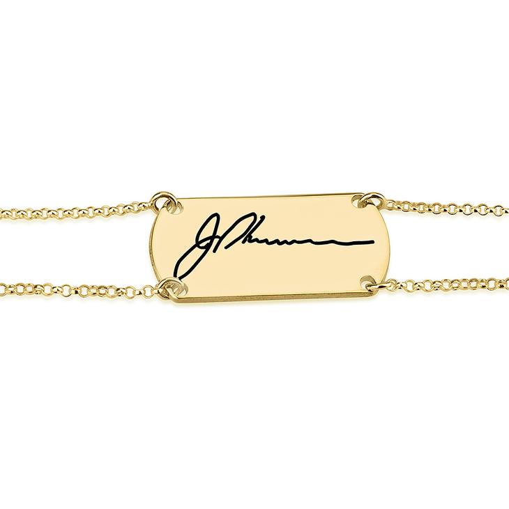 Bracelet Barre avec Signature