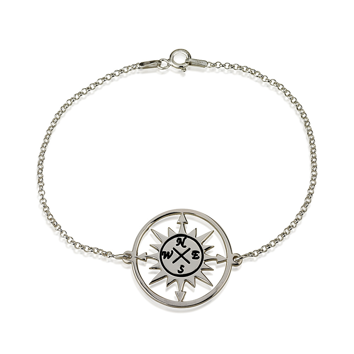 gold compass sour cherry bracelet