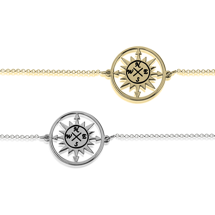 Cut Out Compass Bracelet