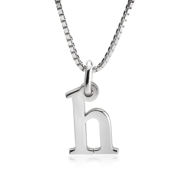 Small Letter Initial Necklace - Picture 2