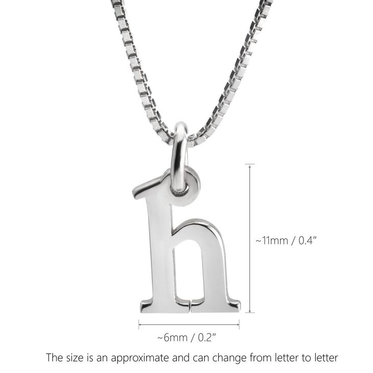 Small Letter Initial Necklace - Information