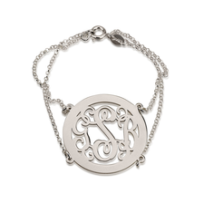 Framed Monogram Bracelet