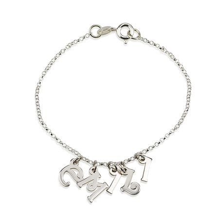 Bracelet with Letter Charms