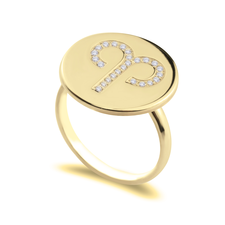 Zodiac Sign Ring with Cubic Zirconia