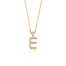Cubic Zirconia Initial Necklace