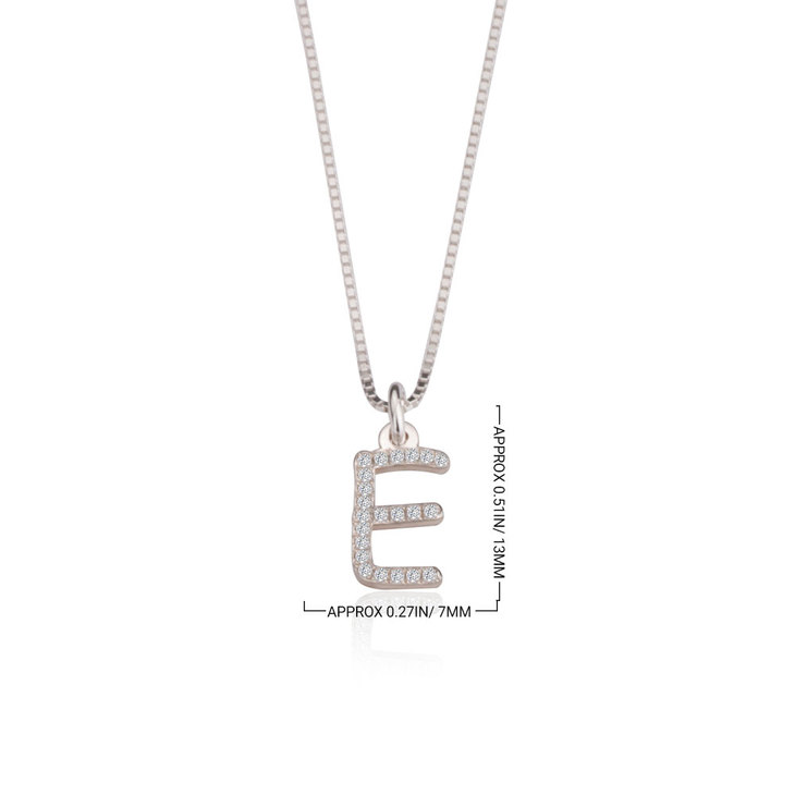 Cubic Zirconia Initial Necklace - Information