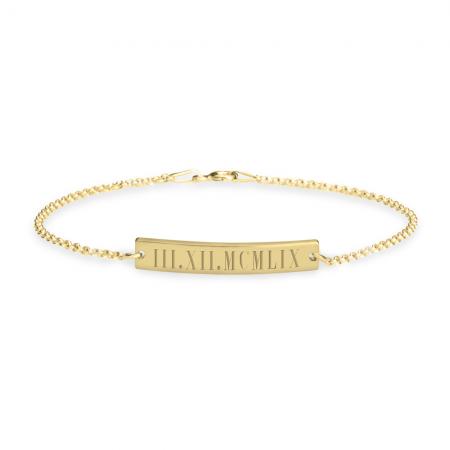 Roman Numeral Bar Bracelet