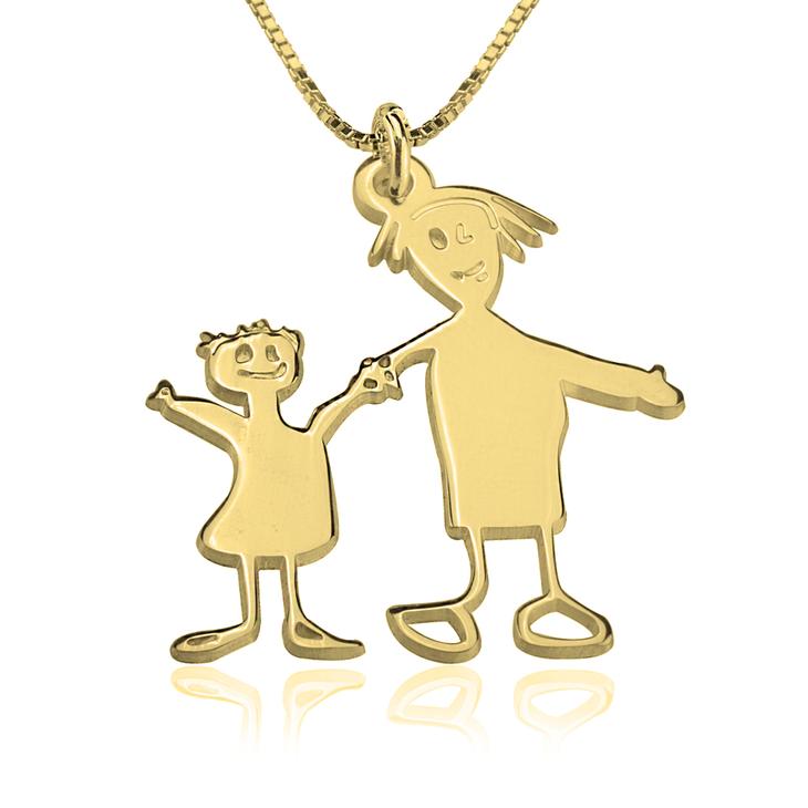 Colliers Gravés avec les Dessins de vos Enfants - Picture 4