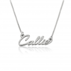 Tiny Cursive Name Necklace - Thumb