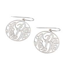 Classic Monogram Earrings