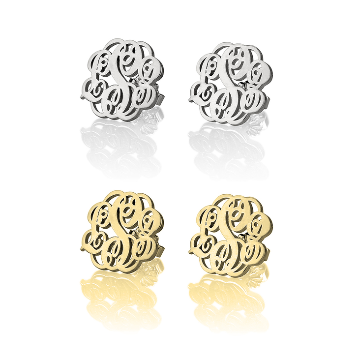 earrings n earring efh silver wire monogram style french