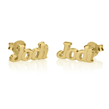 Name Stud Earrings