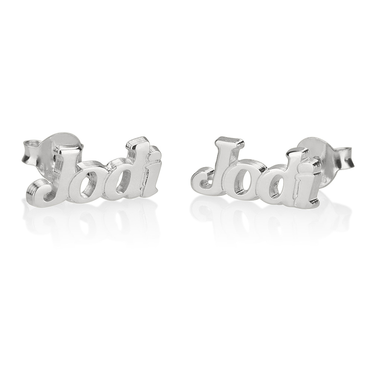 Name Stud Earrings