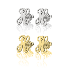 curled-letter-earrings