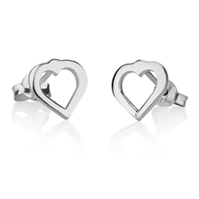 Cut Out Heart Earrings