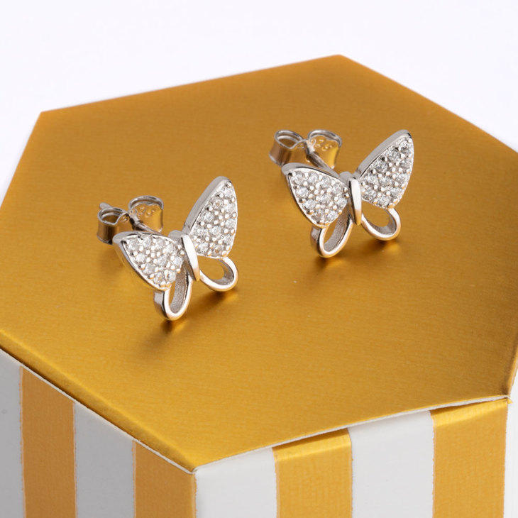 Butterfly Stud Earrings - Model