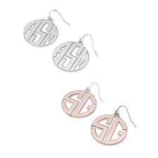 Boucles d'Oreilles Pendantes Monogramme Capital