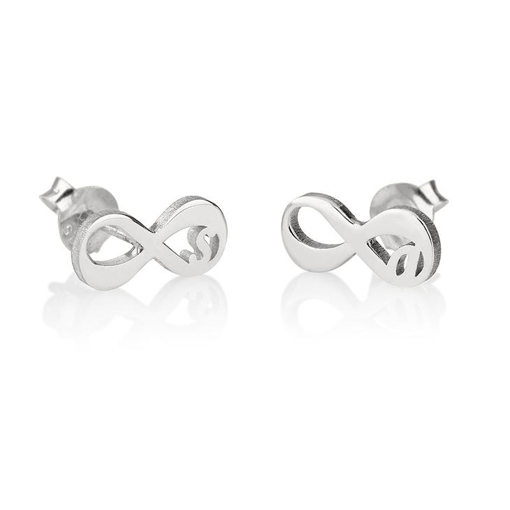 Infinity Initial Earrings