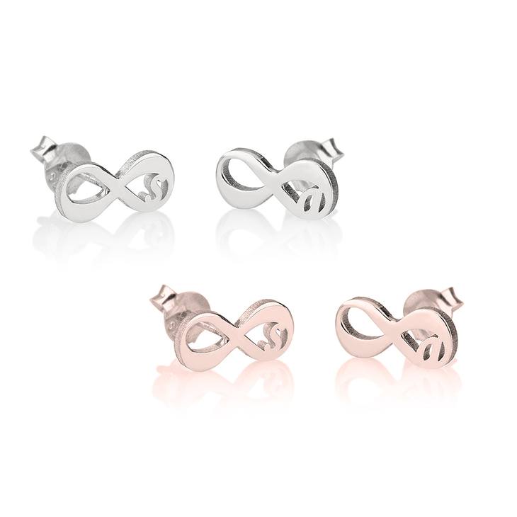 Infinity Initial Earrings