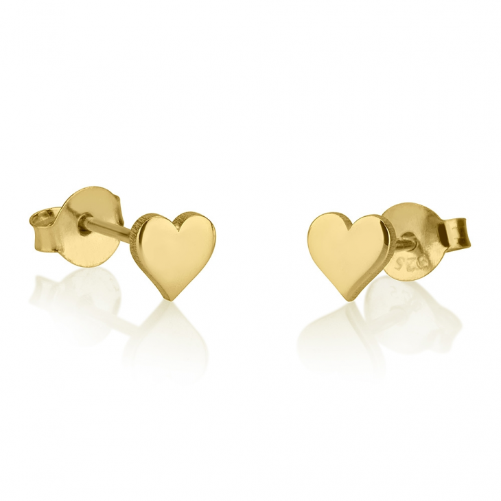 Heart Stud Earrings - Picture 2