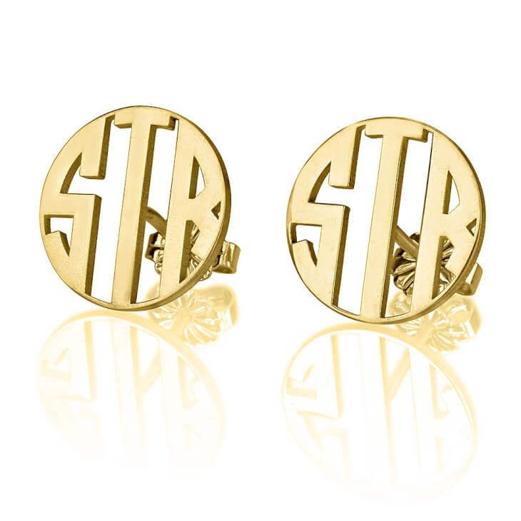Capital Letter Monogram Stud Earrings