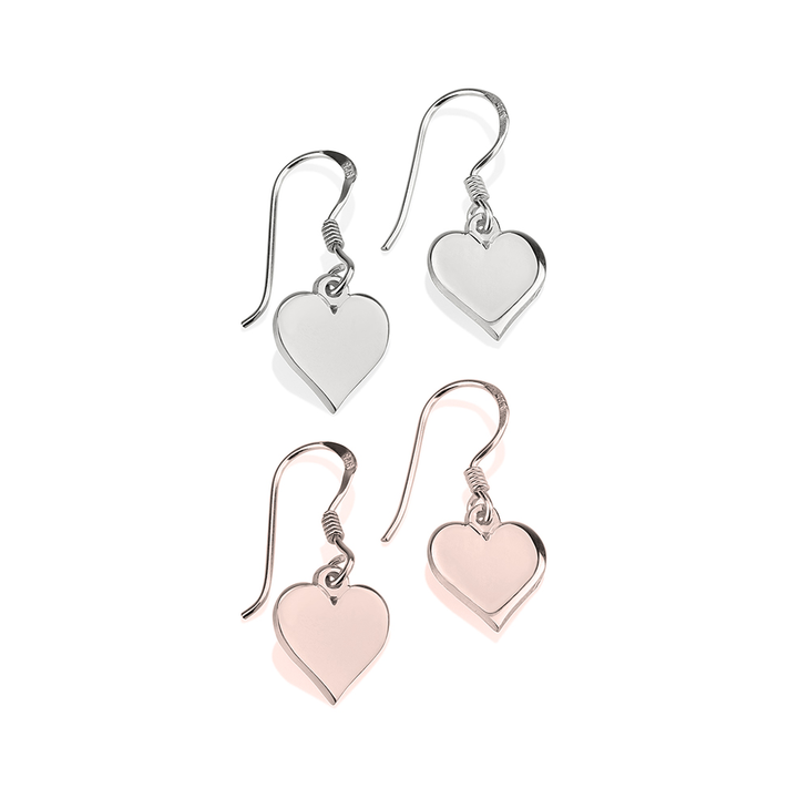 silver my love are sterling jewelry heart rose cosanuova earrings your