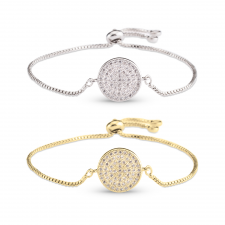 Pave Disc Bracelet