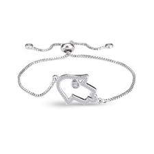 Hamsa Hand Bracelet Cubic Zirconium