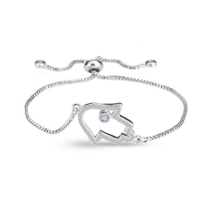 Bracelet Hamsa avec Zirconium