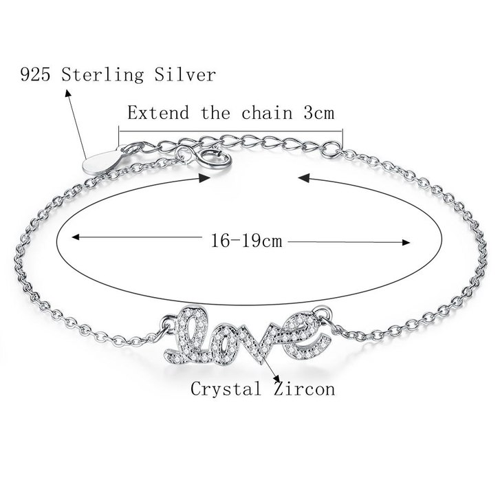 Cursive Love Bracelet - Information