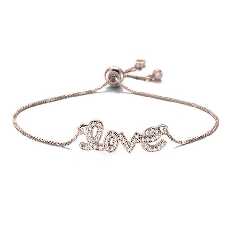 Cursive Love Bracelet