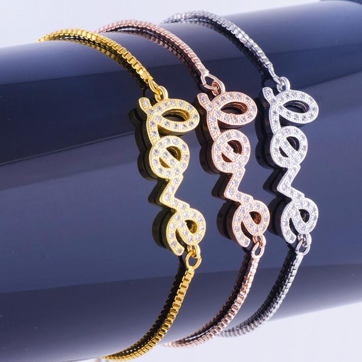 Cursive Love Bracelet - Picture 2