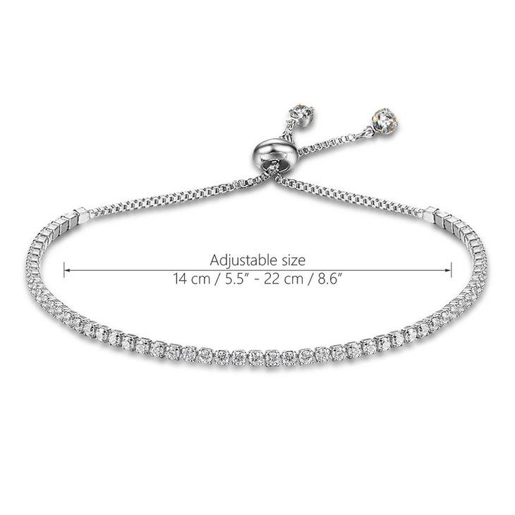 Cubic Zirconia Tennis Bracelet - Information