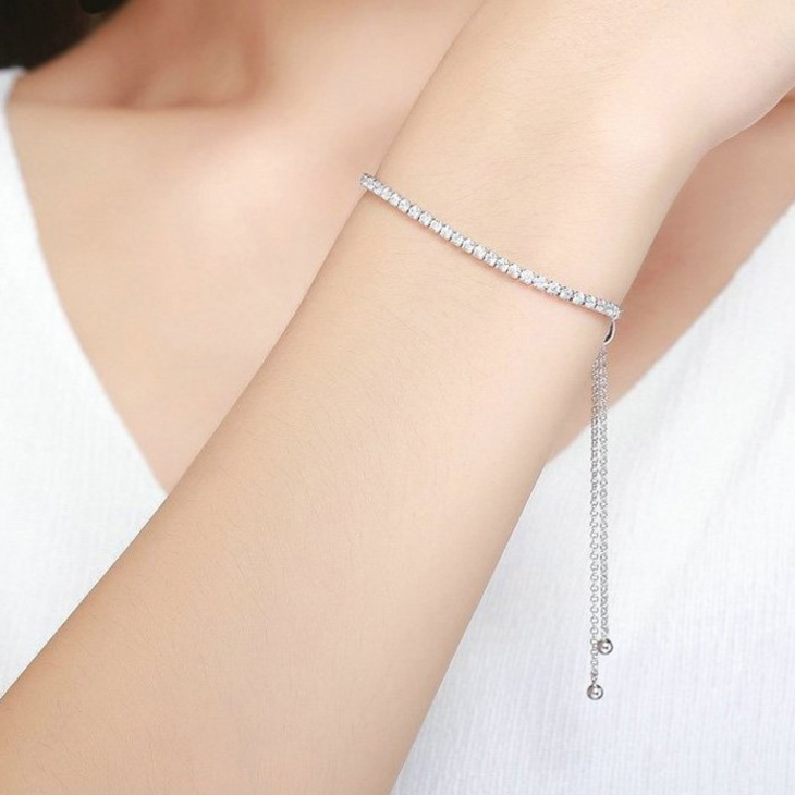Cubic Zirconia Tennis Bracelet - Model